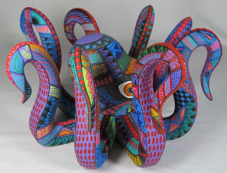 Oaxacan wood carvings alebrijes animals art