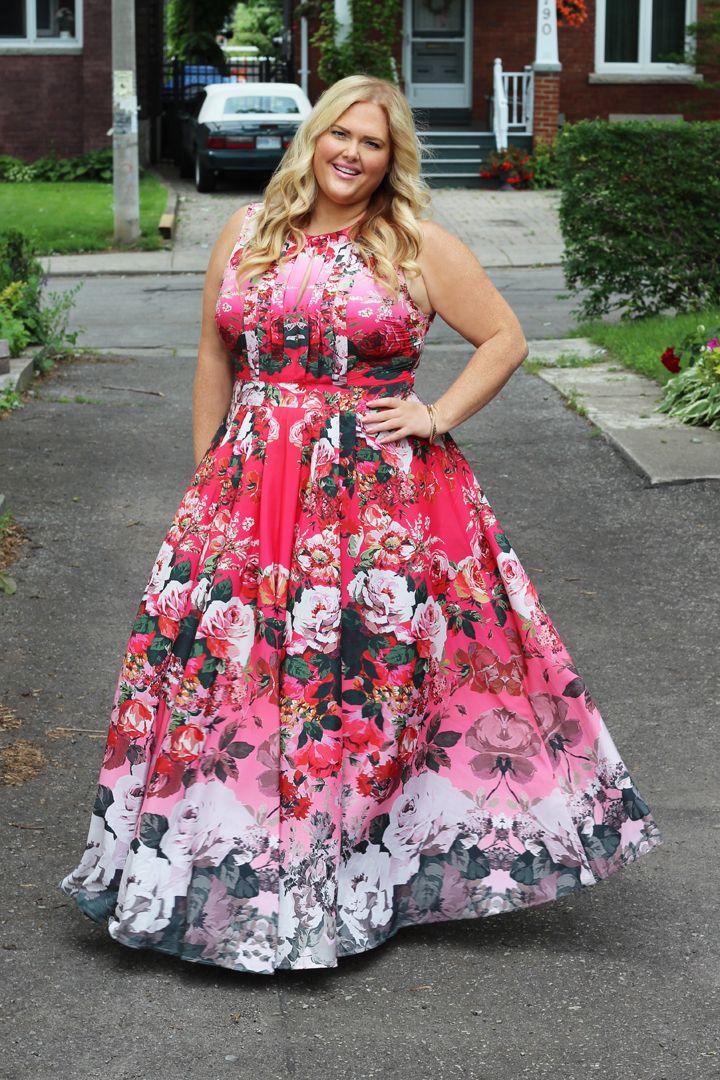 ASOS CURVE SALON Fading Floral Print Maxi Dress | Plus Size Fashion ...