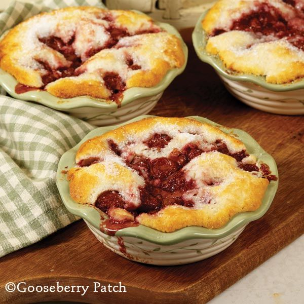 Easy Cherry Cobbler from 101 Homestyle Recipes Cookbook by Gooseberry Patch