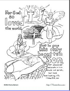 John 3 16 Coloring Sheet Or Take Home Paper Childrens Church Lessons Bible Coloring Bible Coloring Pages