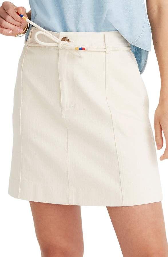 262876b794 Women's Madewell Capital A-Line Miniskirt, Size 00 - Ivory in 2019 ...