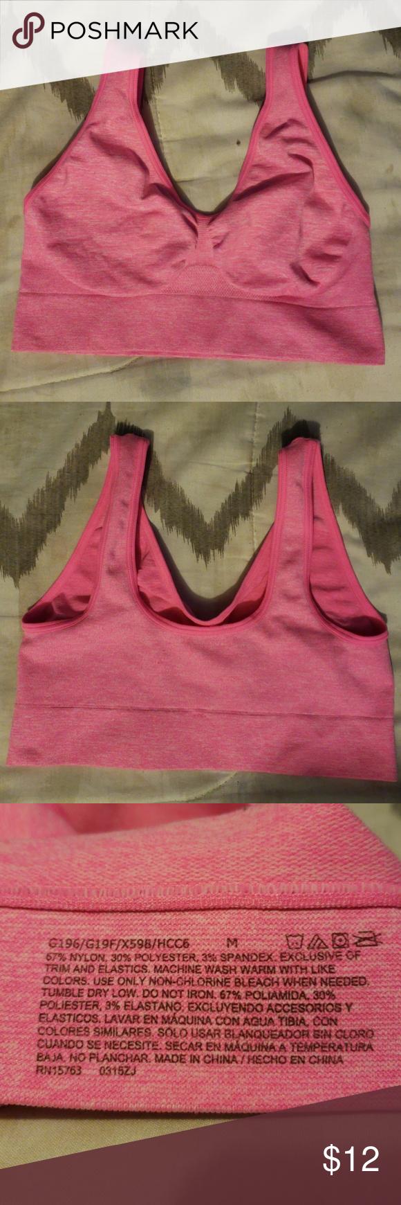 d4ab68ce29 Woman sports bra Woman hot pink aports bra. No padding. No wires. Hanes  Intimates   Sleepwear Bras