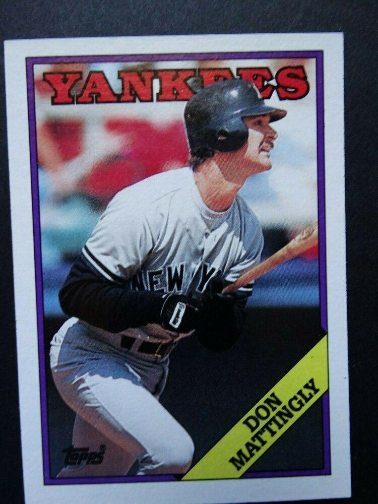 1988 topps 300 don mattingly new york yankees baseball