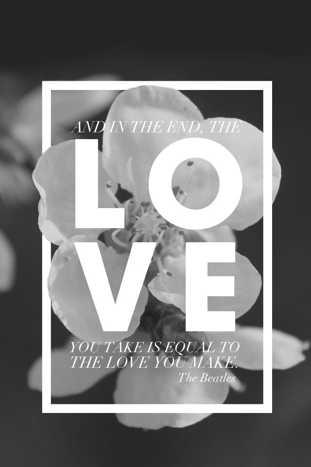 Black White Floral Graphic Love IPhone Phone Lock Screen Wallpaper Background