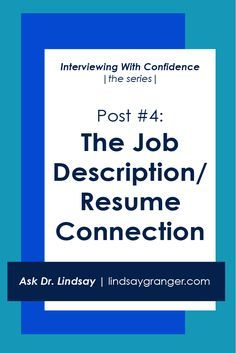 Post Resume Impressive Iwc Post 4 The Job Descriptionresume Connection  Job Description
