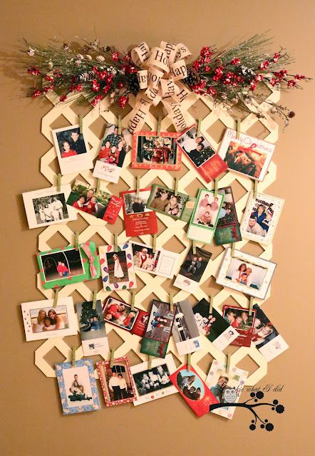 Trellis Christmas Card Display All Things Christmas Pinterest