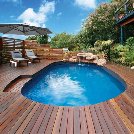 The clark sea breeze resin saltwater pool clark rubber pool water features pinterest for Resin above ground swimming pools