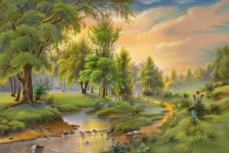 24 Gambar Pemandangan Flora Fauna Dan Alam Benda Pemandangan Top Banget Di 2020 Pemandangan Lukisan Painting