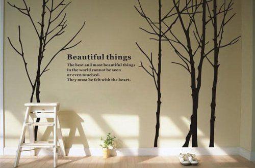 Removable Vinyl Birch Tree Forest Wall Decal Tree Wall Art Birch Wall Sticker