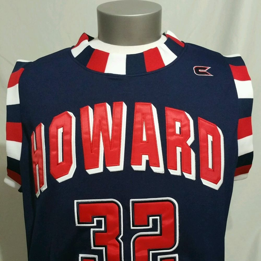 buy popular 30b24 489af HOWARD UNIVERSITY BISONS Basketball Jersey 2XL DC Colosseum ...