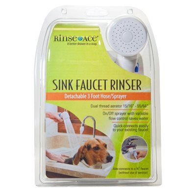 Rinse Ace Sink Faucet Rinser Hose Sprayer, Detachable 3-Ft. Hose: Model# 4304   True Value