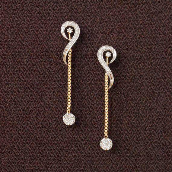 Drop Earrings Rose Gold Along With Jewellery Shops Bath Unless Moonlight Dangle Earrings In R Unique Diamond Earrings Gold Chain Earrings Gold Earrings Designs