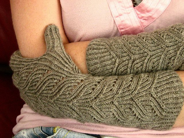 Rivendell gloves. Beautiful!  I might like to make them in a different color, but I know someone who might really like these in a lovely, soft fushia colored yarn!
