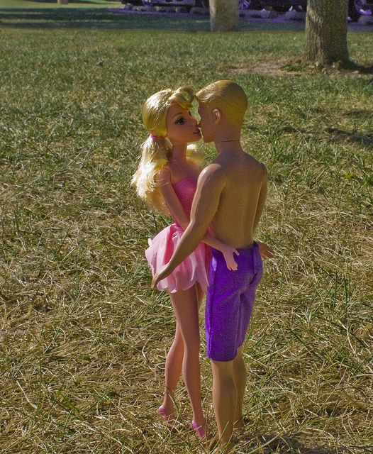 Barbie and ken naked and kissing