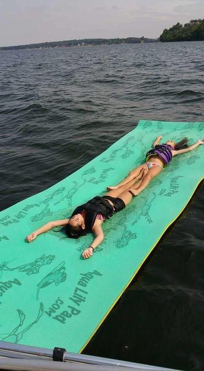 Aqua Lily Pad Ok Floating In Water Lake Fun Aqua Lily Pad