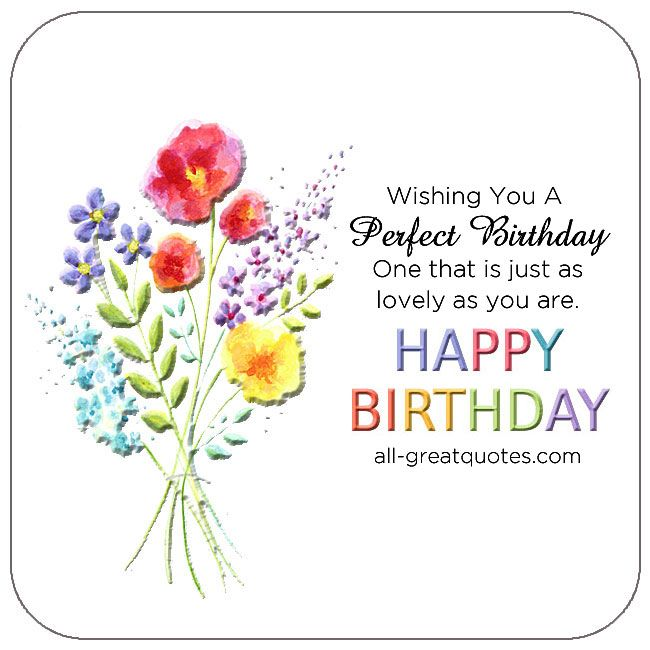 Wishing You A Perfect Birthday Cards For Facebook Friends