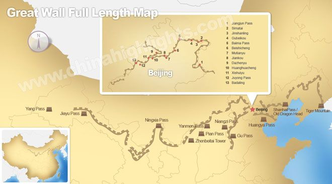 where is the great wall of china on a map Great Wall Of China Maps 26 Location History Maps Great Wall where is the great wall of china on a map
