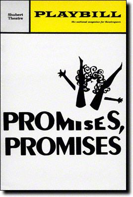 Playbill Cover for Promises, Promises at Shubert Theatre Promises, Promises Playbill - March 1969 Music: Burt Bacharach Lyrics: Hal David Book: Neil Simon