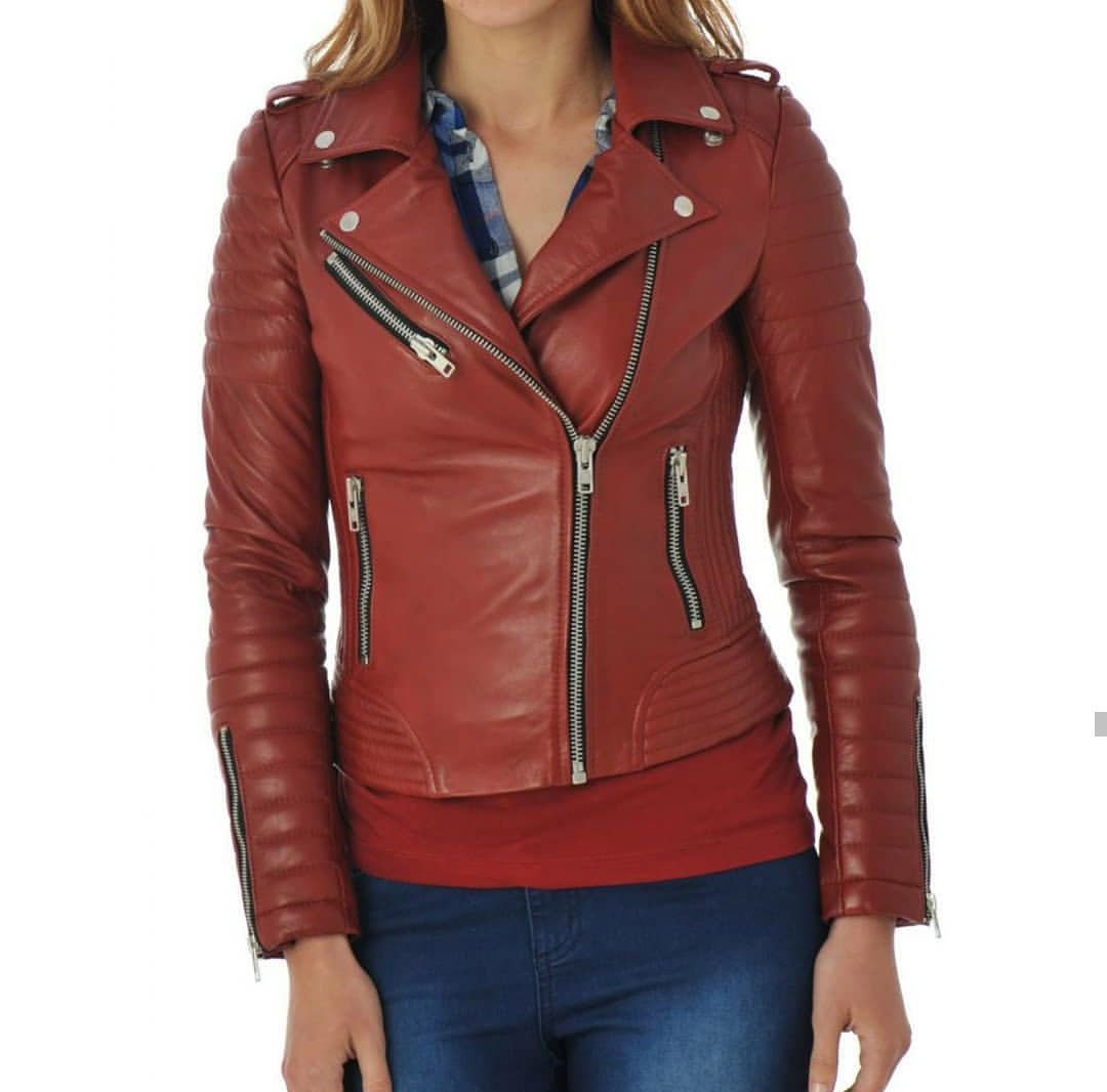 Women S Tan Leather Jacket Slim Fit Outfit Leather Jacket Genuine Tan Lambskin Leather Jacket M Stylish Leather Jacket Leather Jackets Women Red Jacket Leather [ 1066 x 1080 Pixel ]
