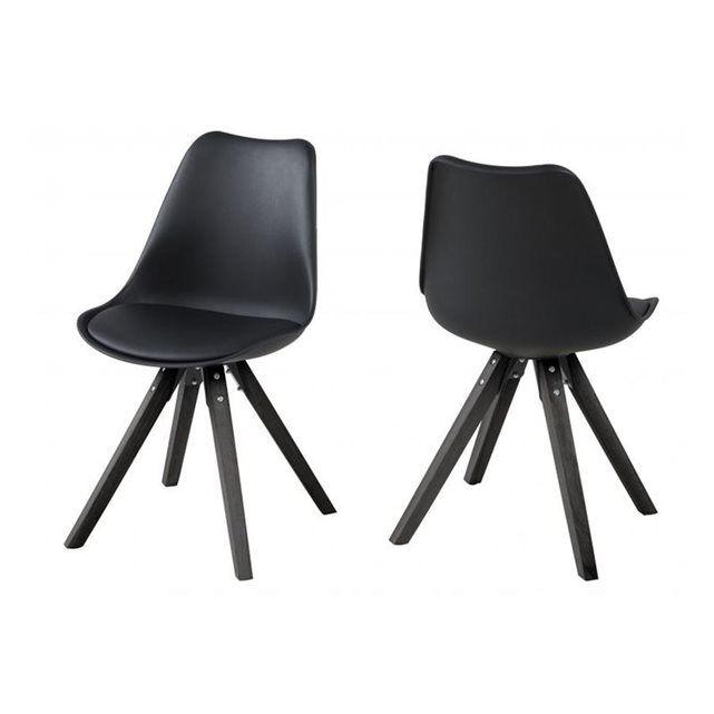 Lot De 2 Chaises Bois Et Resine Earl Coloris Noir Nls Dining Chair Et Home