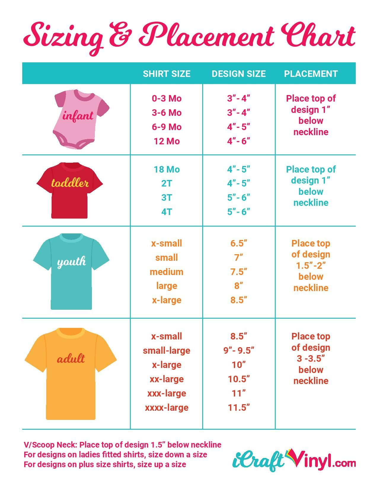 Proper Sizing Placement For Your Heat Transfer Vinyl Designs Free Guide In 2020 Cricut Heat Transfer Vinyl Printable Heat Transfer Vinyl Adhesive Vinyl Projects