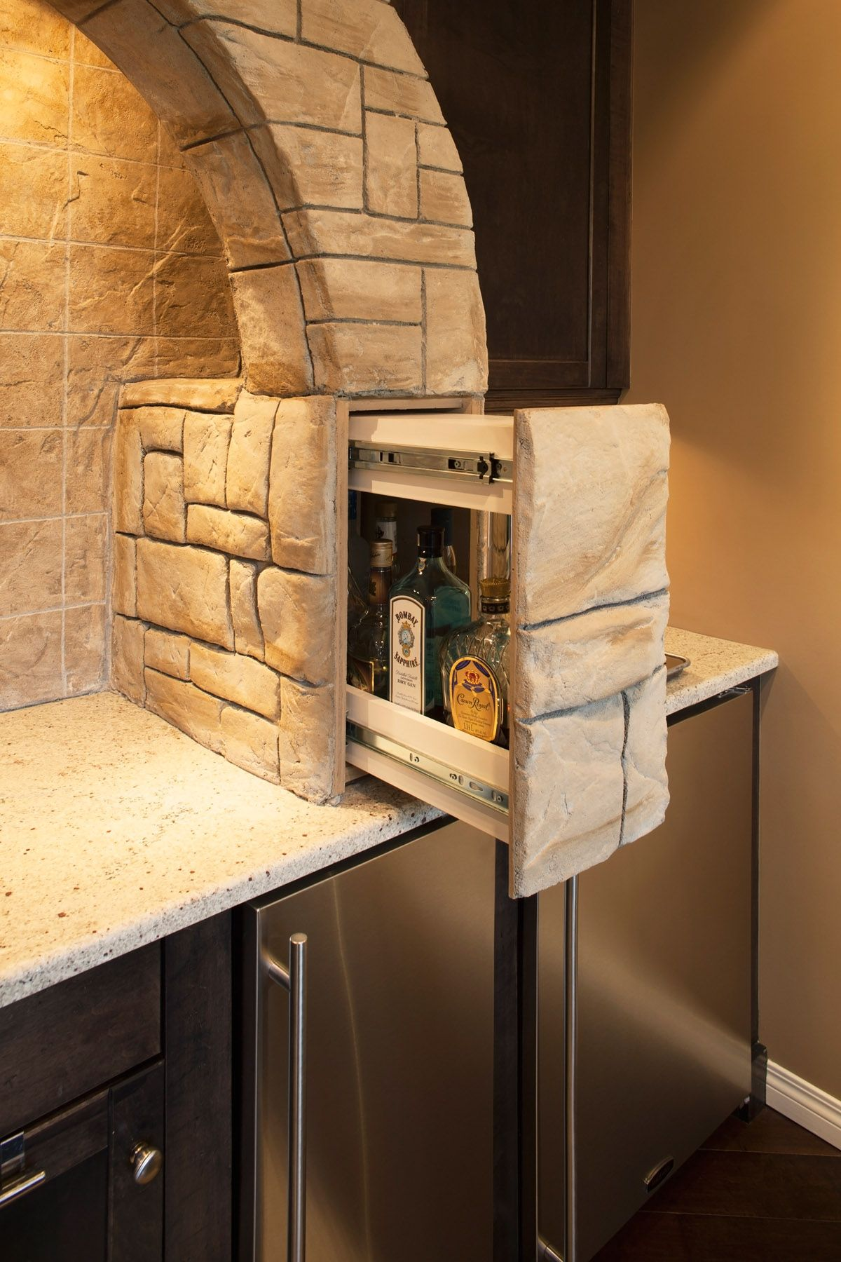 Basement Development - Hidden Bar Open | More than a Man Cave ...