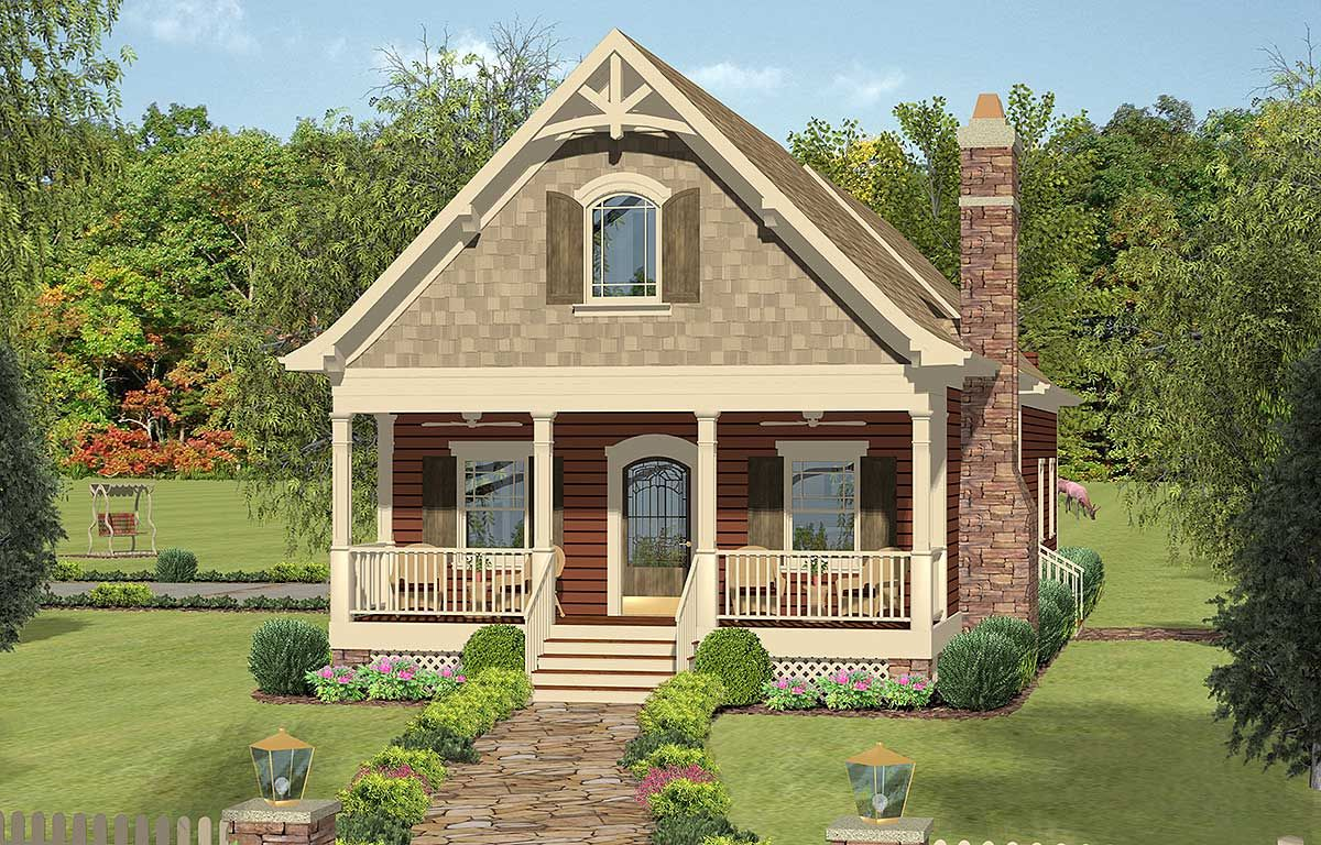 Plan 20115GA Cozy Cottage With Bedroom Loft