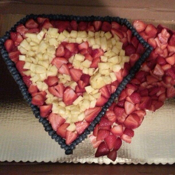 Superman fruit tray