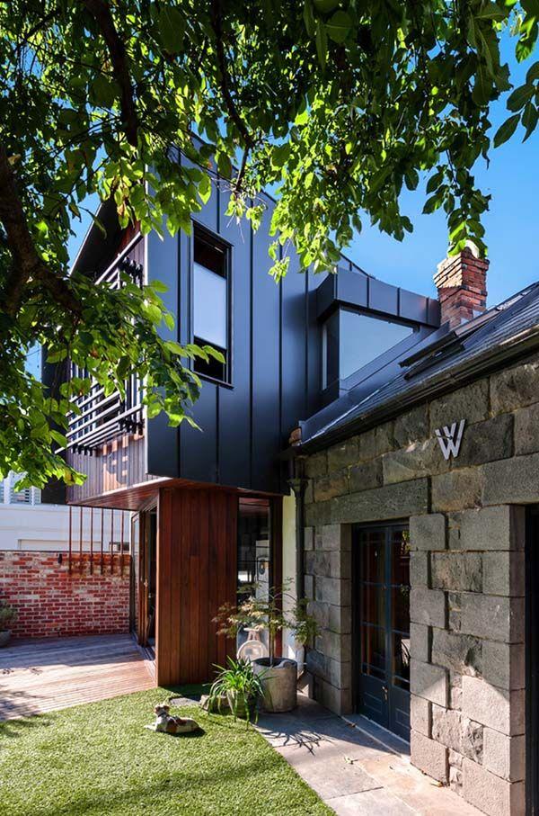 contemporary makeover of an australian home bell street tree house rh pinterest com