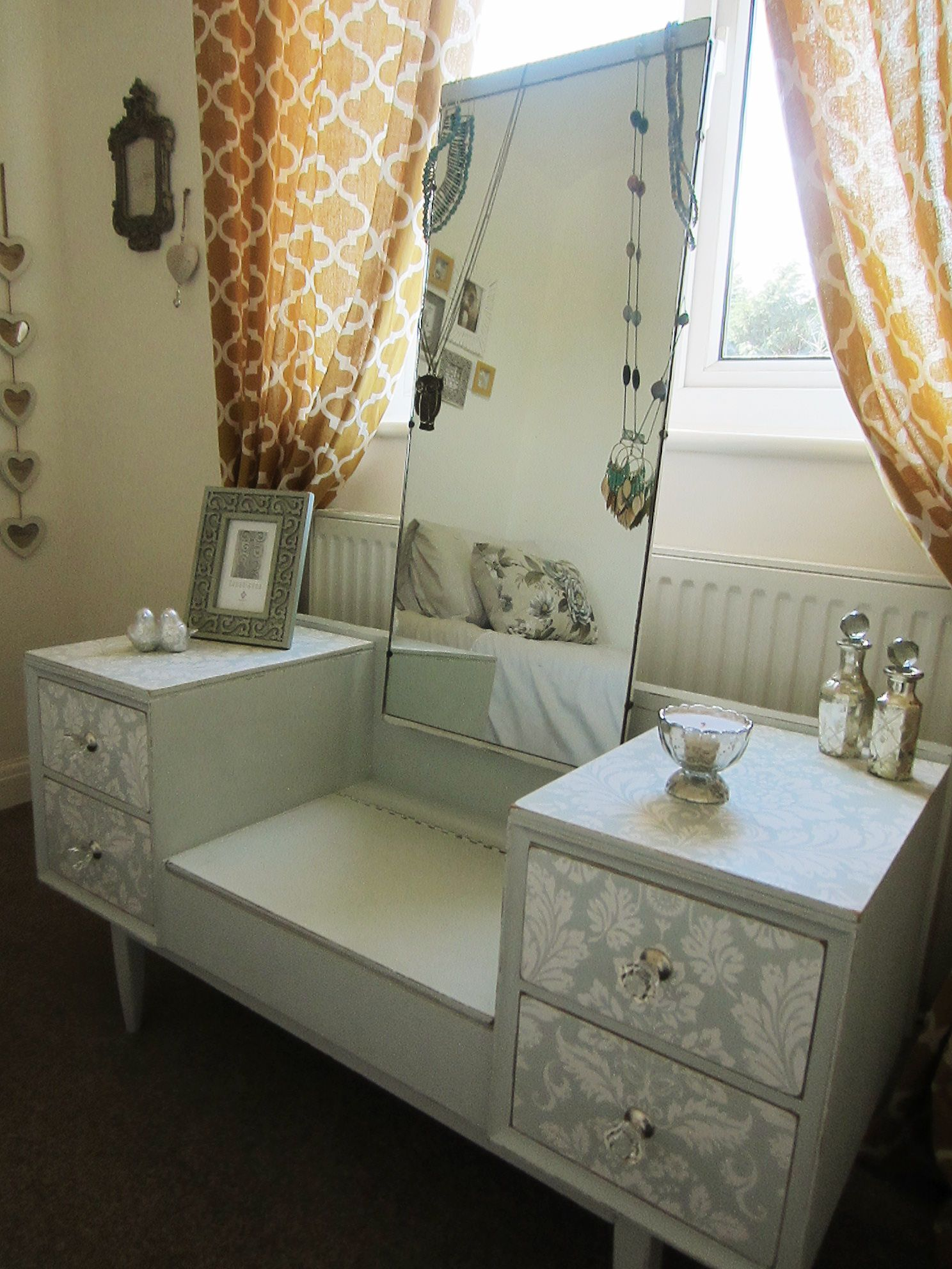 1960s dressing table just got revamped for my back bedroom 1960s dressing table just got revamped for my back bedroom painted in a lovely pale geotapseo Choice Image