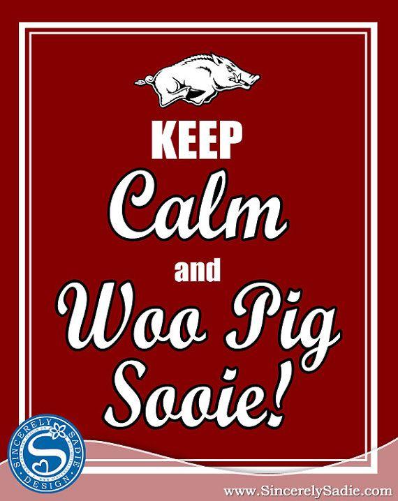 University of Arkansas Razorbacks Keep by SincerelySadieDesign @ etsy