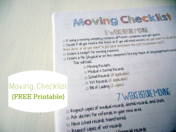 Better Keep This Since We Move So Frequently  Moving Checklist