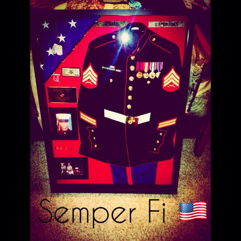 Pin By Jorge Hernandez On Usmc Military Shadow Box Shadow Box Diy Shadow Box