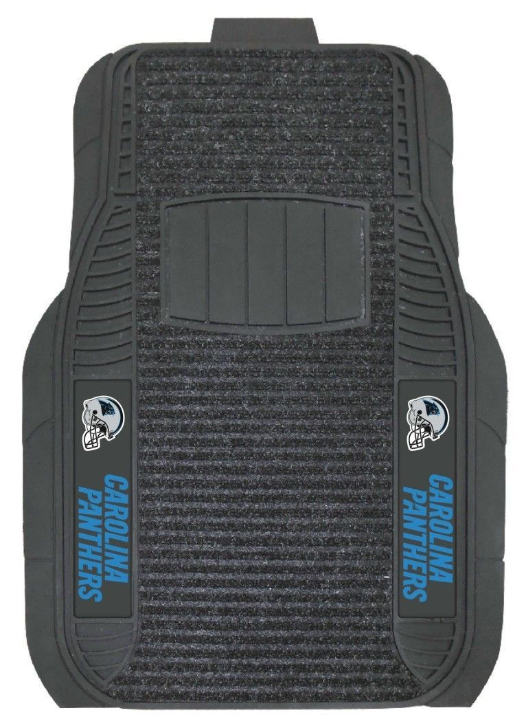 Carolina Panthers Car Mats - Deluxe Set