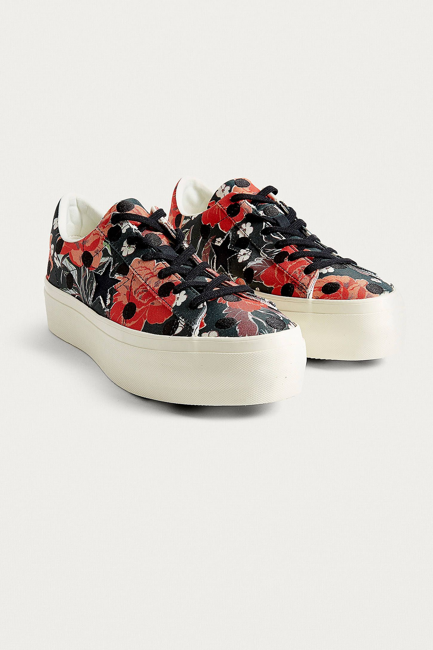 converse one star floral