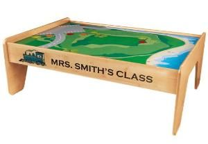 Personalized Train Table in Natural from www.wellappointedhouse.com
