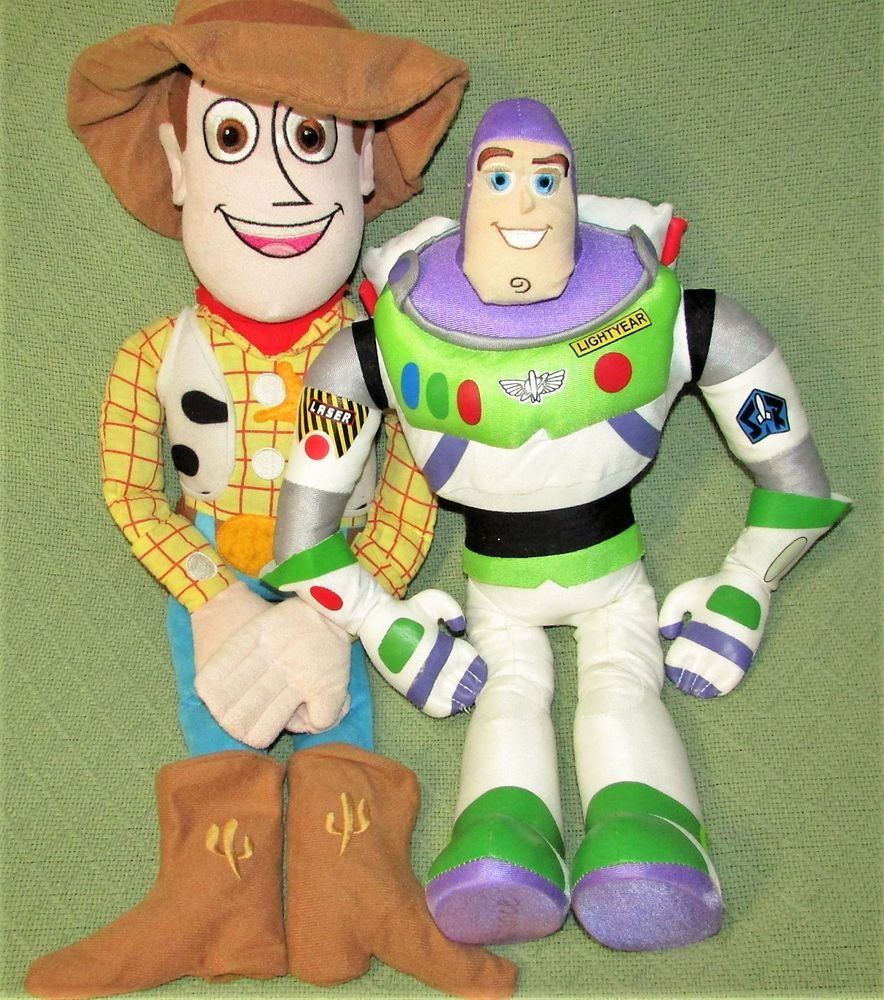 Toy Story Toys Vintage Vintage Toy Story Buzz Woody Large Plush Doll 24