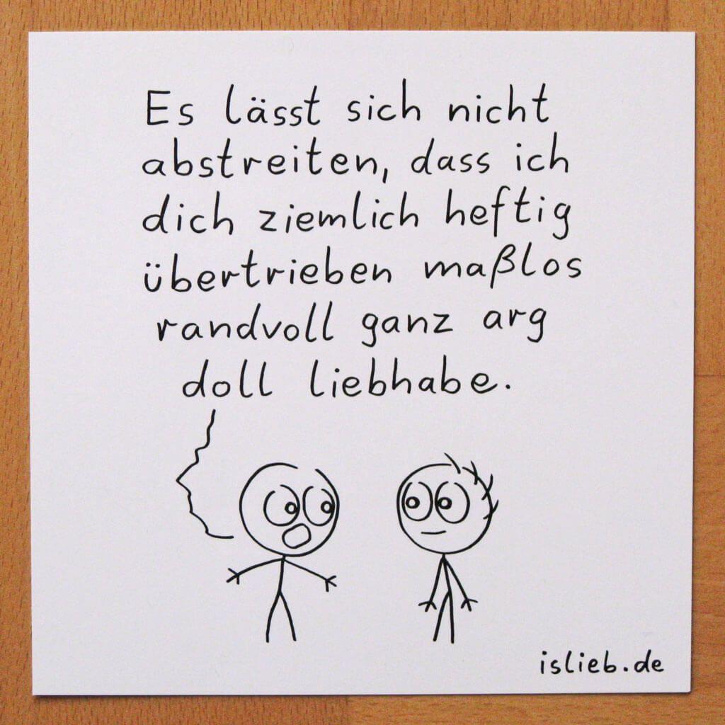 Liebhaben-Karte! Is lieb?