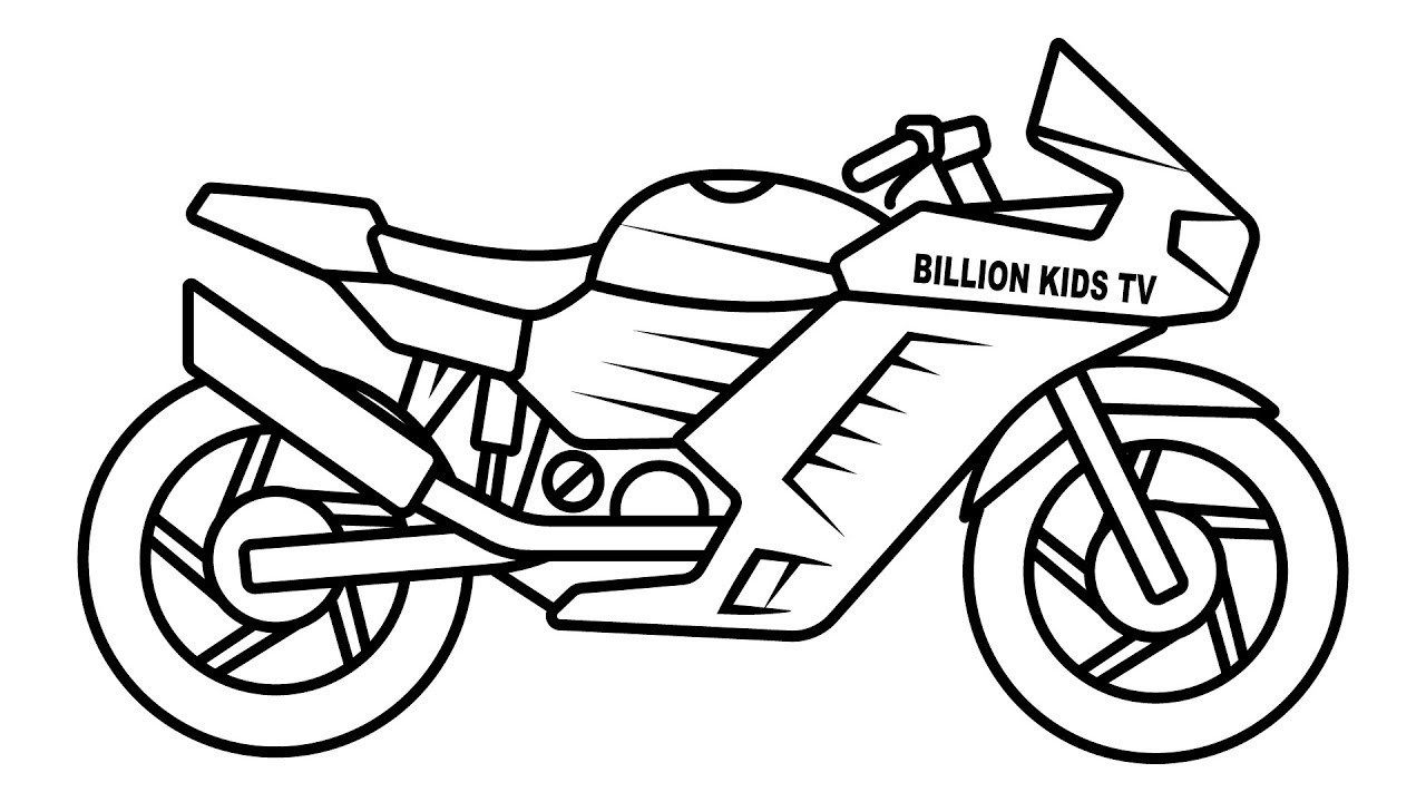 Elegant Image Of Bike Coloring Pages Davemelillo Com Coloring Pages For Boys Bike Drawing Coloring For Kids