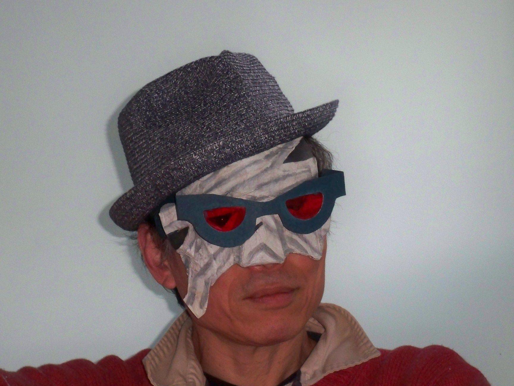 Invisible man mask made from Japanese paper plates (wasara) | Japanese paper animal masks | Pinterest | Paper animals and Animal masks  sc 1 st  Pinterest & Invisible man mask made from Japanese paper plates (wasara ...