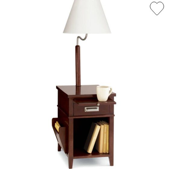 Jcpenney Home Side Table With Magazine Rack And Built In