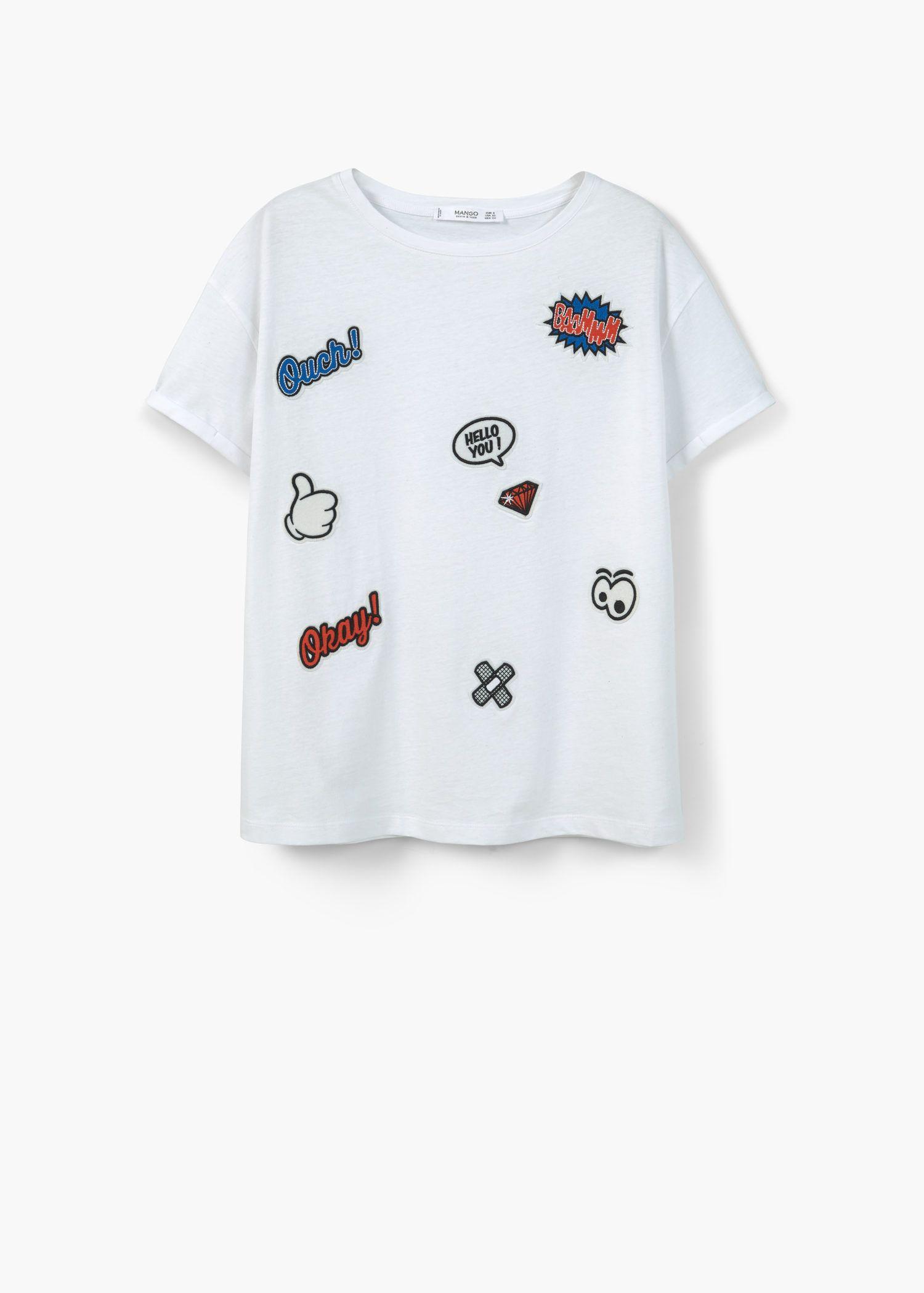 02439c6b3 Decorative patches t-shirt - Women | PATCH I T PIN I T | T shirts ...