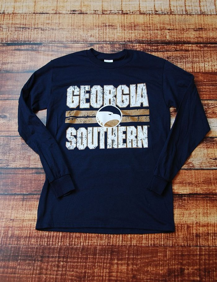 ea312349692 Stay warm cheering on your Eagles in this great Georgia Southern long  sleeve t-shirt!
