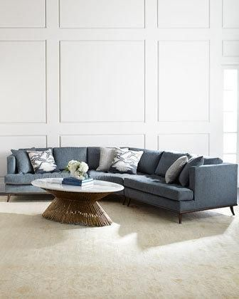 Way Too Expensive But Love It Ambella Capri Curved Sectional Sofa