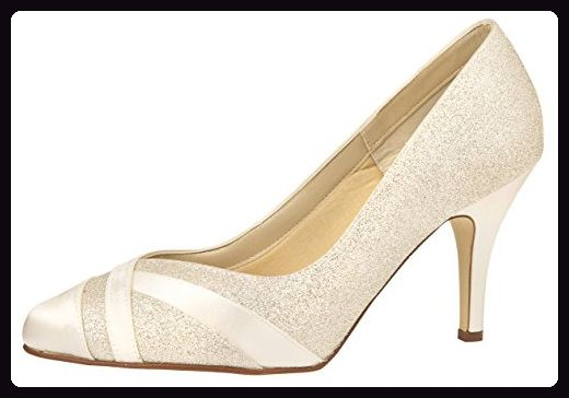Rainbow Club Brautschuhe Mila Pumps Stiletto Peeptoe Ivory