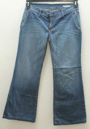 "Women's Chip & Pepper Blue Jeans, Style: ""Arctic Fox"" Size 31"", Flare Leg, Low Rise, Zipper Front"