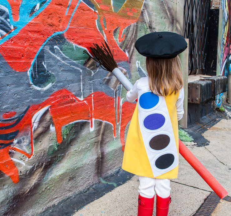 DIY Halloween Costume Idea for Kids Watercolor Paint Box