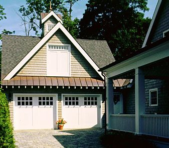 the metal roof over the garage doors gives a nice scale garages rh pinterest com