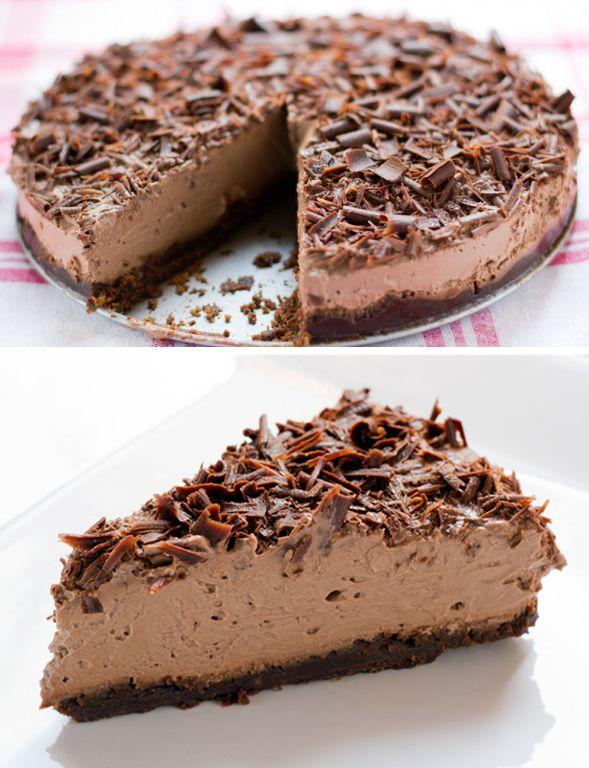 Tarta De Mousse De Chocolate Chocolate Desserts Sweet Recipes