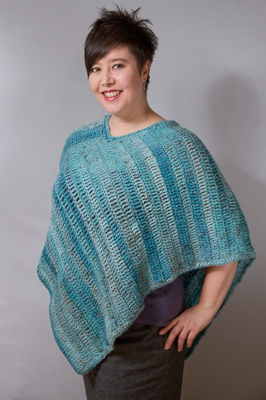How To Knit A Poncho For Beginners Pattern : Free+Crochet+Patterns Free crochet pattern: Icy Hombre Poncho Shes C...